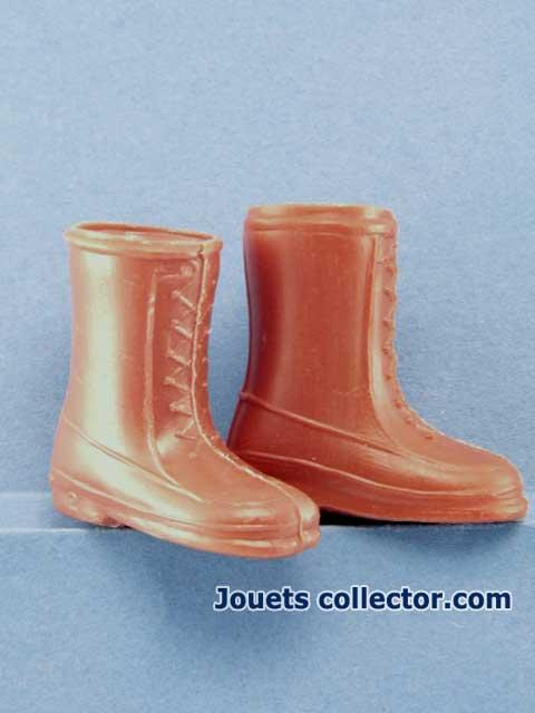 Brown Plastic Boots