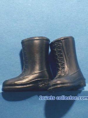 Black Plastic BOOTS