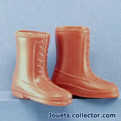 Bottes marrons Plastique
