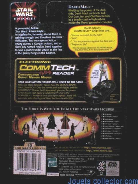 Commtech Reader-STAR WARS la menace fantôme Sneak-Neuf